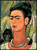 Self-Portrait with Monkey by Frida Kahlo.